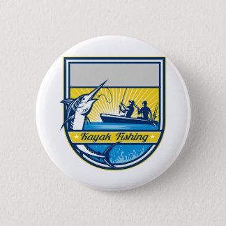 Bóton Redondo 5.08cm Caiaque que pesca o crachá do espadim azul