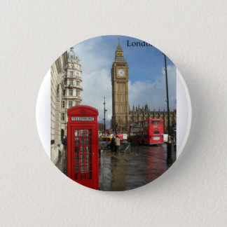Bóton Redondo 5.08cm Caixa do telefone de Londres Big Ben (por St.K)