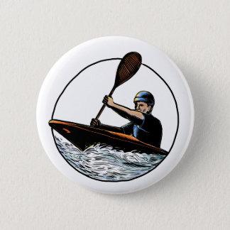 Bóton Redondo 5.08cm Canoa Scratchboard do Paddler do caiaque
