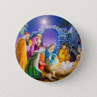 Bóton Redondo 5.08cm Cartão de Natal cristão