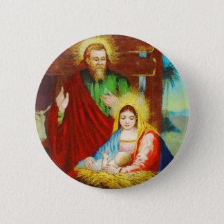 Bóton Redondo 5.08cm Cena divina da natividade do vintage
