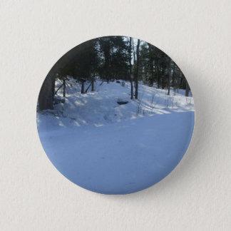 Bóton Redondo 5.08cm Cena do amanhecer do inverno