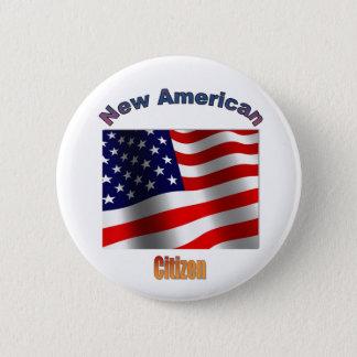 "Bóton Redondo 5.08cm ""Cidadão americano novo """