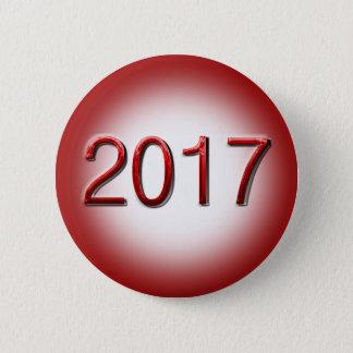 Bóton Redondo 5.08cm Classe de 2017 no botão vermelho da graduação