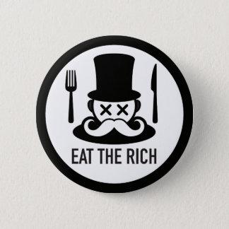 Bóton Redondo 5.08cm Coma o botão do homem rico