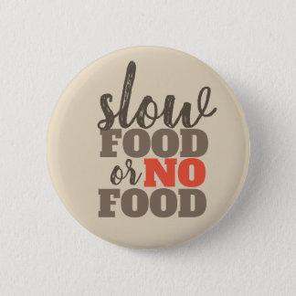Bóton Redondo 5.08cm Comida lenta ou nenhum botão da comida