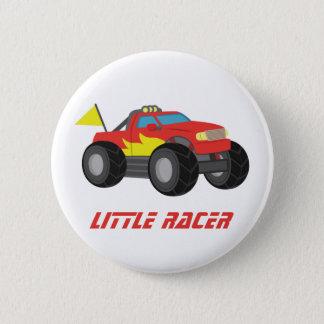 Bóton Redondo 5.08cm Competindo o botão vermelho dos meninos do piloto