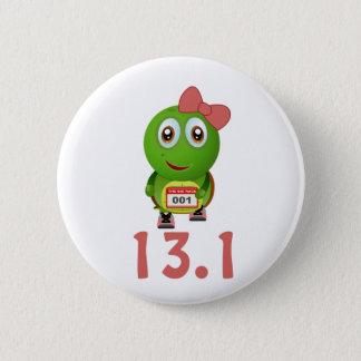Bóton Redondo 5.08cm Corredor 13,1 da tartaruga da menina