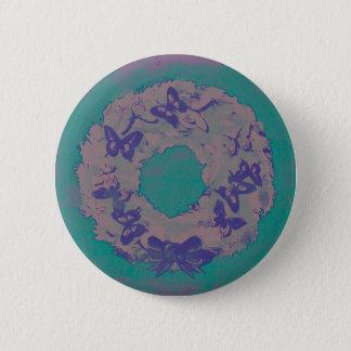 """Bóton Redondo 5.08cm Da """"Pin do botão do feriado da grinalda borboleta"""""""