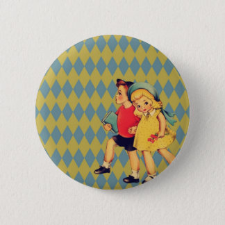 Bóton Redondo 5.08cm de volta aos miúdos retros do vintage do kitsch do