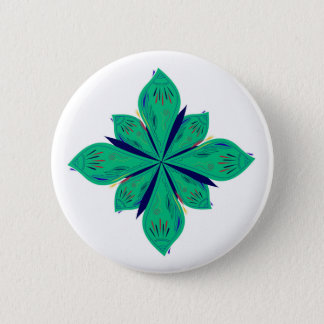Bóton Redondo 5.08cm Deco verde de Ethno da mandala
