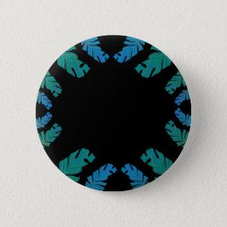 Bóton Redondo 5.08cm Design das folhas no preto