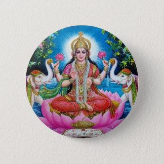 Bóton Redondo 5.08cm Deusa de Lakshmi de amor, de prosperidade, e de
