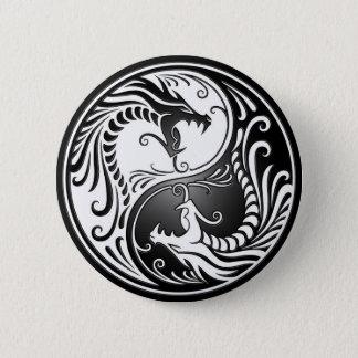 Bóton Redondo 5.08cm Dragões de Yin Yang