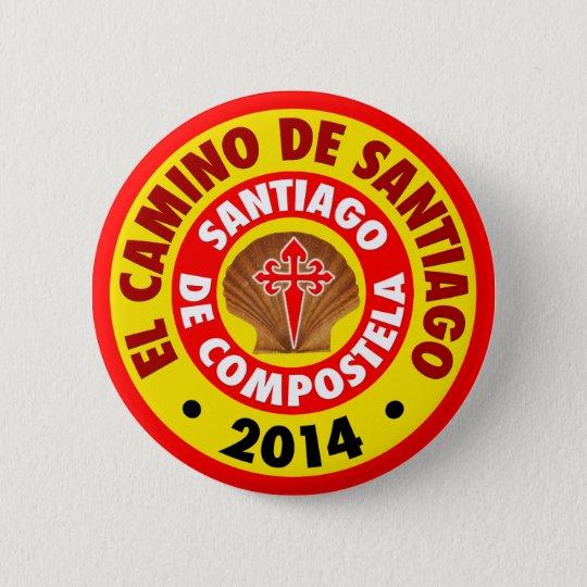 Bóton Redondo 5.08cm EL Camino de Santiago 2014