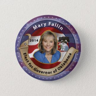 Bóton Redondo 5.08cm Eleja Mary Fallin para o governador de Oklahoma -