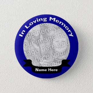 Bóton Redondo 5.08cm Em botão de memória/azul Loving