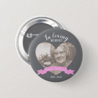 Bóton Redondo 5.08cm Em botão loving da fita do rosa do coração da foto