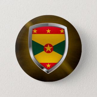Bóton Redondo 5.08cm Emblema de Grenada Mettalic