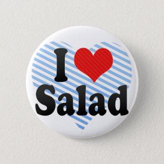 Bóton Redondo 5.08cm Eu amo a salada