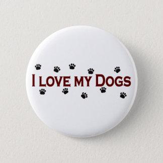 Bóton Redondo 5.08cm Eu amo meus cães