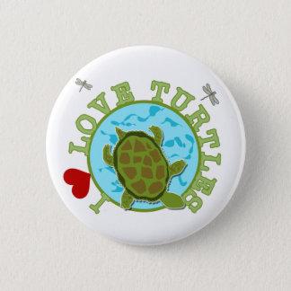 Bóton Redondo 5.08cm Eu amo o camiseta e os presentes das tartarugas