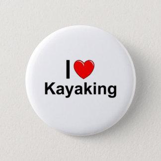 Bóton Redondo 5.08cm Eu amo o coração que Kayaking