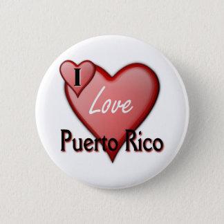 Bóton Redondo 5.08cm Eu amo Puerto Rico