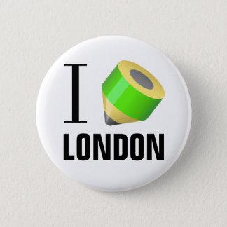 Bóton Redondo 5.08cm Eu amo tirar em Londres