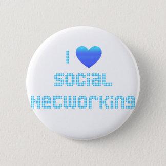 Bóton Redondo 5.08cm Eu amo trabalhos em rede sociais