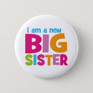 Bóton Redondo 5.08cm Eu sou uma irmã mais velha nova