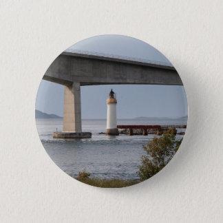 Bóton Redondo 5.08cm Farol de Kyleakin, ponte de Skye, Scotland