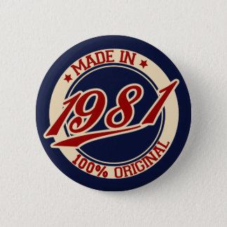 Bóton Redondo 5.08cm Feito em 1981