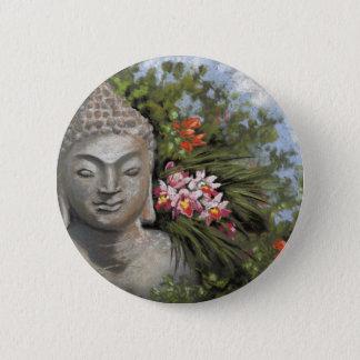 Bóton Redondo 5.08cm Flores de Buddha & de selva