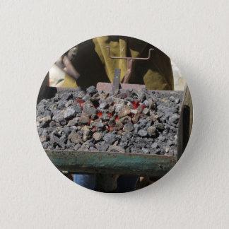 Bóton Redondo 5.08cm Fornalha antiquado do ferreiro