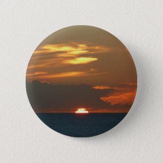 Bóton Redondo 5.08cm Fotografia colorida do Seascape do por do sol do