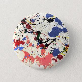 Bóton Redondo 5.08cm Fundo do Splatter da pintura dos artistas