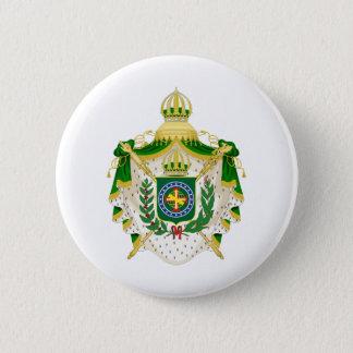 Bóton Redondo 5.08cm Grandes Armas do Império do Brasil.