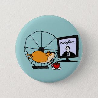 Bóton Redondo 5.08cm Hamster engraçado XY em uma sátira da roda do