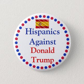 Bóton Redondo 5.08cm Hipanics contra o botão de Donald Trump