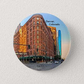 Bóton Redondo 5.08cm Hotel majestoso no por do sol, Denver do palácio