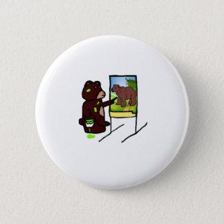 Bóton Redondo 5.08cm Ilustração do urso dos desenhos animados da