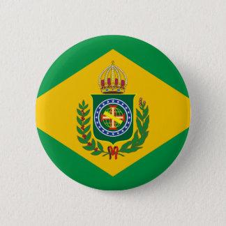 Bóton Redondo 5.08cm Império do botão da bandeira de Brasil