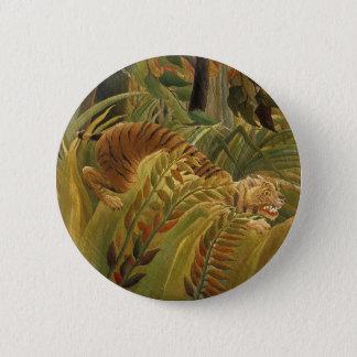 Bóton Redondo 5.08cm Impressão tropical da arte do tigre da selva de