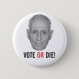Bóton Redondo 5.08cm Jack Kevorkian: O VOTO OU MORRE!