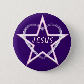 Bóton Redondo 5.08cm Jesus, estrela da manhã brilhante
