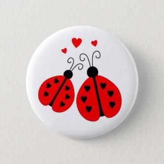 Bóton Redondo 5.08cm Joaninhas no botão do amor