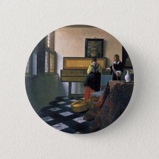 Bóton Redondo 5.08cm Johannes Vermeer - a lição de música