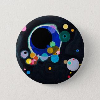 Bóton Redondo 5.08cm Kandinsky trabalhos de arte de diversos círculos
