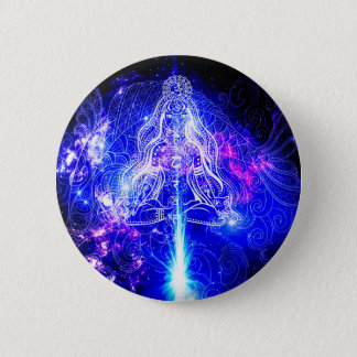Bóton Redondo 5.08cm Koi iridescente cósmico